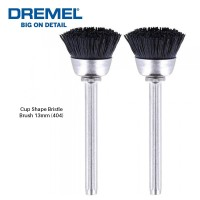 DREMEL 404 Cup Shape Bristle Brush For Cleaning And Polishing 13mm (2pcs) - 26150404JA