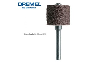 DREMEL 407 1/2 Inch Sanding Drum Mandrel 13mm Grit 60 (2615040732)