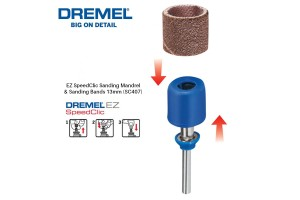 DREMEL SC407 EZ SpeedClic Sanding Mandrel & Sanding Bands 13mm (2615S407JA)