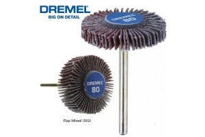 DREMEL 502 Flap Wheel 9.5mm 80 Grit (2615050232)