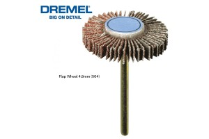 DREMEL 504 Flap Wheel 28.6mm 80 Grit (2615050432)