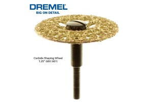 DREMEL 801 Carbide Shaping Wheel 1.25 Inch 60 Grit - 26150801AA
