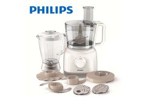 PHILIPS Daily Collection Food Processor 650W Compact 2-In-1 Setup 2.1L Bowl (HR7628/01)