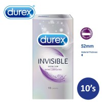 DUREX Invisible Extra Lubricated Condom 10's (3029389)