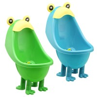 Toddler Safety Portable Cute Frog Design Standing Plastic Urinal Potty Training For Boys (D6818)