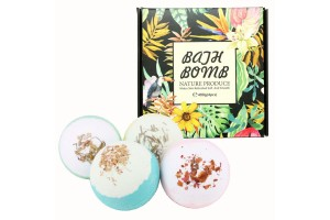 Pure Natural Organic Dried Flower Soothing Aromatherapy Relaxation Moisturizing Bath Bomb (100g x 4)