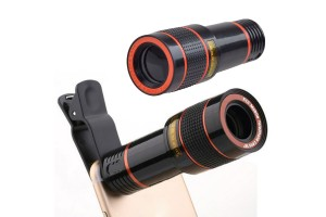 12X Power Focus Optical Zoom Smartphone HD Telescope Clip-on Camera Lens With Universal Mobile Phone Clip