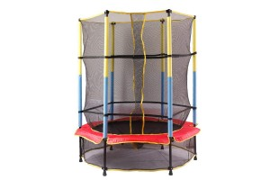 Jumping Fun Fitness Gym Children Bouncing Exercise Trampoline With Safety Enclosure Netting