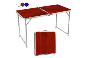 Multipurpose Convenient Portable Compact Foldable Aluminium Adjustable Height Outdoor Camping Carry Table (120cm x 60cm)