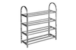 UB Furniture 4 Tier Layers Simple Practical Space Saving Stainless Steel Shoe Storage Display Rack (A024)
