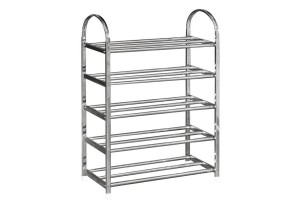UB Furniture 5 Tier Layers Simple Practical Space Saving Stainless Steel Shoe Storage Display Rack (A025)
