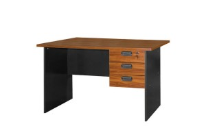 UB Furniture Simple Modern Design Brown Home Office Writing Table With 3 Space Saving Drawers (20007)