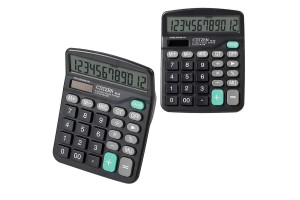 12-Digit Display Solar Battery Basic Calculator Dual Power Desktop Calculator (M-28)