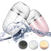 3-In-1 Multifunction Electric Facial Cleansing Brush Spa Mini Skin Care Massage Brush Face Care Tool