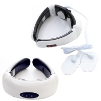 Electric Neck Cervical Traction Collar EMS Heating Vibrating Pulse Magnet Therapy Massager Relaxation