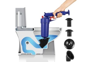 Multifunction Toilet Plunger Drain Blaster Cleaner Gun Air Power Drain Pump High Pressure Powerful Manual Sink