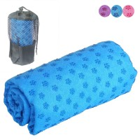 Premium Microfiber Super Absorbent Fast Drying Yoga Towel With Unique Slip Resistant Resin Flower Pattern