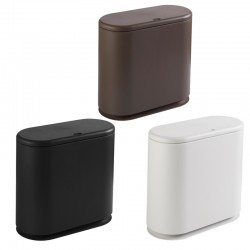 Oval Push-type Bullet Cover Trash Can Nordic Home ABS Trash Can