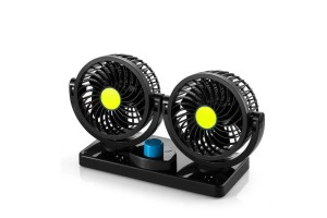 2 Head 360 Degree Rotation Car Vehicle Cooling Air Double Fan