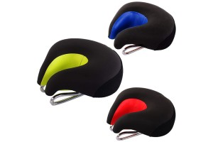 U-Type Extra Thick Comfortable Bike Seat No Nose Anti Pressure Road Mountain Bike Saddle With Reflector