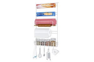 Creative Refrigerator Rack Hanger Side Wall Kitchen Storage Rack Finishing Shelves (Z623)