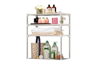 Practical Floor-standing Wrought Iron Kitchen Bathroom Shelf Partition Rack (Z103)