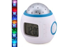 Music And Starry Star Sky Master Night Light Projector Lamp Child Kid Lazy Alarm Clock Calendar