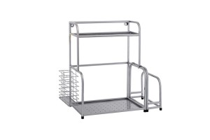 Kitchen Finishing Rack Stainless Steel Color Seasoning Storage Rack