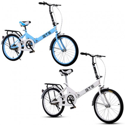 GTE 20 Inch Folding Bike Foldable Bicycle Cycling Mountain Bike Off-road City Bicycle Road Bike Adult  Bicycle