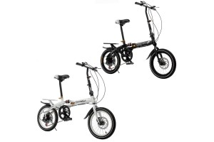 16 Inch Folding Speed Bicycle Double Disc Brake For Children's Shock Absorber Bike