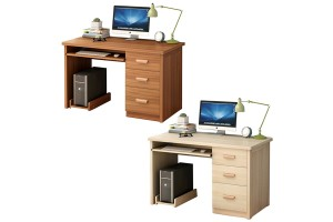 Multifunction Computer Desk Wood PC Table With 3 Drawers For Home Office Table Workstation (A59)