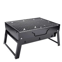 BBQ Home Barbecue 3-5 People Outdoor Full set Portable Thick Folding Barbecue Shelf Tool