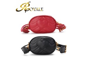 ROYALE Oval Korean Fashion Shoulder Bag Multi-purpose Chest Pocket Spiraea Love Ribbon Sling Bag (RYL-225)