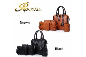 ROYALE Fashion Hand Shoulder Shoulder Slanting Mother Four-piece Handbag 6102 (RYL-226)