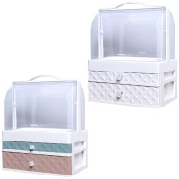 Drawer Type Cosmetic Storage Box Desktop Dressing Shelf Portable Dustproof Skin Care Product