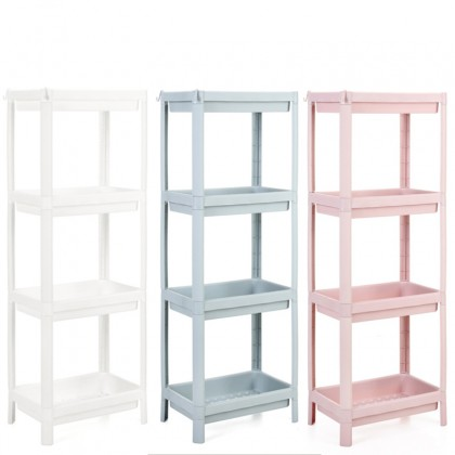 GTE Multi-function 4 Tier Bathroom Rack Wholesale Bathroom Vanity Floor Home Multi-layer Storage Rack