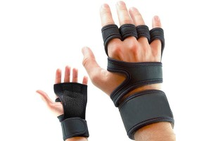 1 Pair Fitness Gloves Weight Lifting Gym Workout Sport Exercise Training Wrist Wrap
