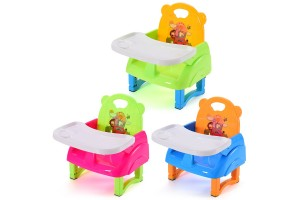 Foldable Portable Multi-function Children's Dining Chair Baby Stool