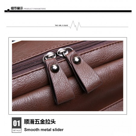 ROYALE Shoulder Men Korean Student Bag Fashion Travel Backpack Retro Casual Men PU Leather Computer Bag 920 (RYL-231)