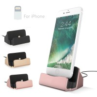 USB Universal IOS Charging Dock Station Fast Portable Phone Charger Stand Data Sync Transfer Cable Base For Iphone