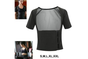 Sweat Clothes Weight Loss Female Sweating Fitness Suit Coat Running Sweat Yoga Clothing (BF02)
