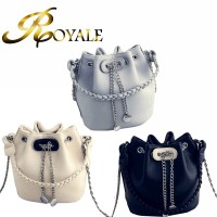ROYALE Women Chain Bucket Bag Single Shoulder Messenger Mini Bags 0836 (RYL-230)