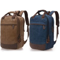 Men Backpack Casual Canvas Bag Man Bag Computer Backpack Student Leisure Shoulder Bags