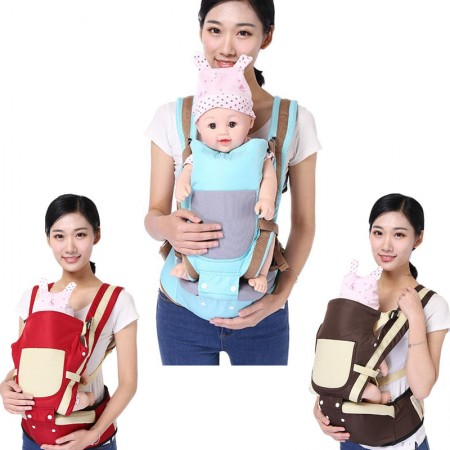 Baby carrier Multifunctional Baby Hip Seat Carrier Breathable Adjustable Carrier (Suitable For 0-36 Months)