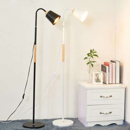 GTE Floor Lamp With Heavy Metal Based Architect Swing Arm Floor Standing Lamp For Living Room Office Bedrooms (N257)
