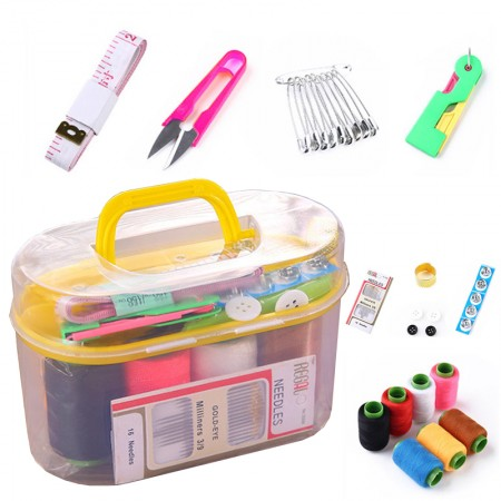 Mini Portable Household Sewing Kit Needle And Thread Sewing Mend Tool Sewing Kit Storage Box