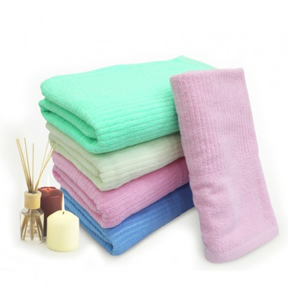 GTE 2pcs Absorbent Cotton Towel Bath Quick Drying Washcloth Bath Wet Body (70cm x 140cm)