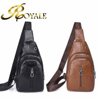 ROYALE Men Chest Bag Leather Bag Crossbody Men Handbag Tote Bags 811 (RYL-238)