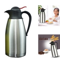 2000ML Large Capacity Stainless Steel Double Wall Vacuum Insulated Coffee Pot Unbreakable Water Pitcher