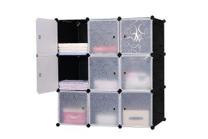 DIY Magic 9 Cube Piece Combination Storage Cabinets Finishing Bedside Wardrobe Simple Cupboard (N224)